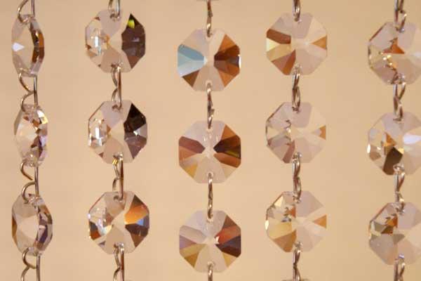 Kristályfüggyöny Oktogon kristályból